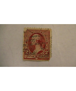 Rose Vintage USA Used 2 Cent Stamp Cancelled - $5.28