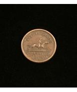 Vintage 1863 Time is Money Exigency - Bronze Civil War Token - $45.00