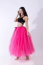 Adult Tutu Maxi Skirt Drawstring High Waist Party Tutu Tulle Skirt Petticoats  image 10