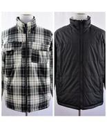ZeroXposur Black Plaid Fleece Reversible Lined Shirt Jacket Mens Sz L - $43.53