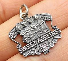 LGB 925 Sterling Silver - Vintage Sweet Adeline's Chorus Design Pendant ... - $36.94