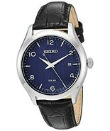 Seiko Mens Dress Stainless Steel Japanese-Quartz Watch SNE491 - $127.95