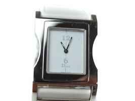 Auth Christian Dior D100-322 White Dial Leather Band Quartz Ladies Watch DW0045 - $219.00