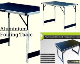 Aluminium Folding Table Adjustable Height Portable Camping Fishing Garde... - $53.01