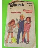 Vintage Butterick 6505 Children's Straight Leg Coveralls Size 2-4 Sewing... - $5.90