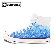 Water Ice Cube Custom Design Hand Painted Shoes Converse Original Canvas...  - £ 839d64f11