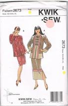 Kwik Sew Pattern 2673 Jacket and Skirt XS-S-M-L-XL - $5.99
