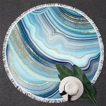 Blueish Marble Beach Towel - $12.32+