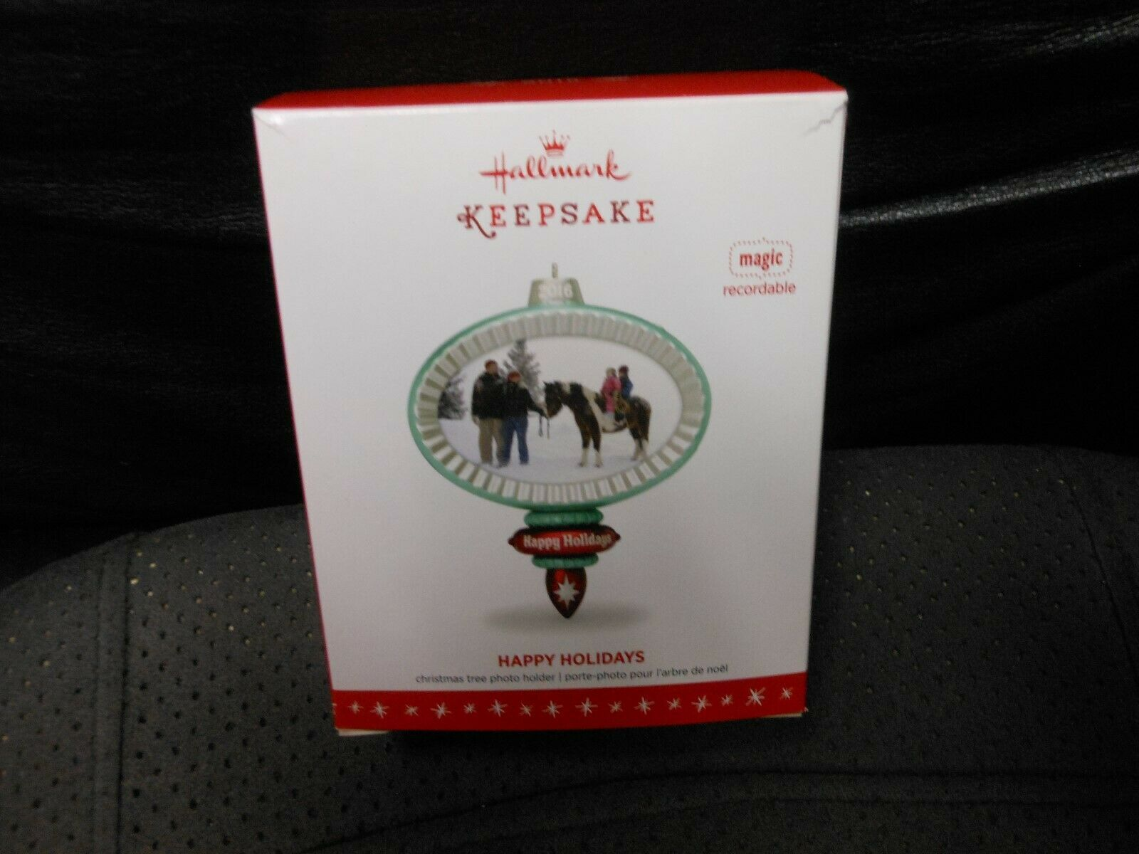 "Hallmark Keepsake ""Happy Holidays"" 2016 Recordable, Photo Holder Ornament NEW"