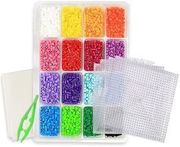 kedudes Multi Color Perler Beads Kit - Tray of 16 Fun Color Perler Fuse ... - $34.12