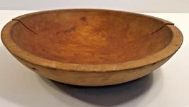 Munsing Primitive Wood Wooden Bowl Marked - $33.68