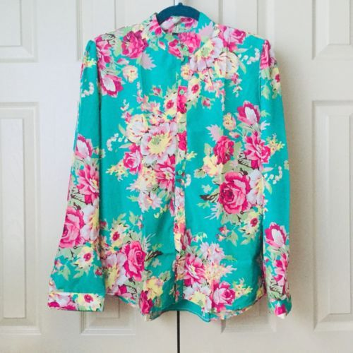 Primary image for New Women Elegant Spring Long Sleeve Floral Print Casual Slim Blouse Shirt Tops