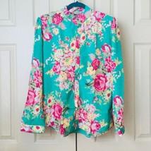 New Women Elegant Spring Long Sleeve Floral Print Casual Slim Blouse Shi... - $22.50
