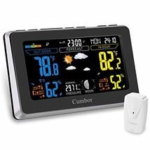 Cumbor Weather Stations with Wireless Indoor Outdoor Sensor, Digital Col... - $29.03