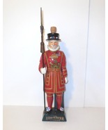 """Beefeater Yeoman Decanter Dry Gin Ceramic London ~ 16"""" tall Hand painted... - $55.00"""