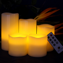 LED Lights Flameless Candles Wax Flickering Candle w/ Remote Timer Dimme... - $27.99