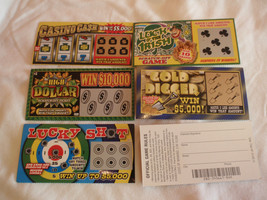 75 Phony Fake All Winning Scratch Off Lottery T... - $48.33