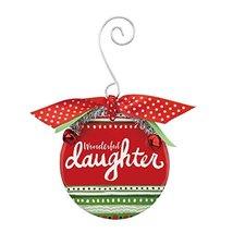 Demdaco Daughter Patterned Ceramic Ornament 3.5 Inches Diameter Decorati... - $17.33