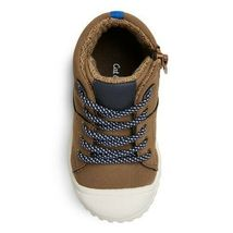 Cat & Jack Toddler Boys' Mitch Brown Leather High Top Hiking Boots Shoes NEW image 3
