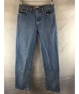 TOMMY HILFIGER Distressed Cuffs Straight Leg Denim Jeans Women's Size 2 - $25.69