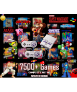 Super Nintendo SNES Classic Retro Gaming Console 7500 Games - 25+ Consoles - $229.00