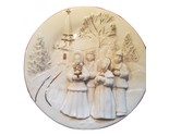 Mikasa Holiday Elegance Fine Porcelain 3 Dimensional Christmas Caroler Plate
