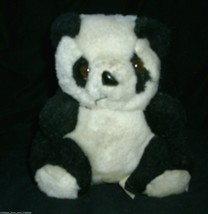 "7"" VINTAGE RAFFOLER PANDA TEDDY BEAR MOM W 2 BABY BEARS STUFFED ANIMAL P... - $28.05"