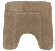 beige doux Cashmere-Feel chenille anti-dérapant piédestal Tapis 50 x 50 cm - $18.24