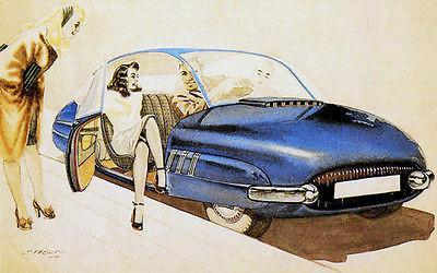 Primary image for 1947 Saab 92 Concept Car - Promotional Advertising Poster