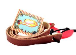 Mandolin Strap - Henry Heller Capri Leather Strap - Brown - $21.99
