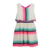 Rare Editions Stripe Popover Dress in Ivory,  size 16 - $22.76