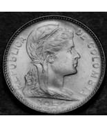 Colombia Dominicana,1952-B Gemma UNC ~ Libertà Testa ~ Sopra 65 Anni Old... - $6.87