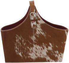 Benzara 95929 Stylish Leather Hide Magazine Holder, 17' W X 15' H - $132.19