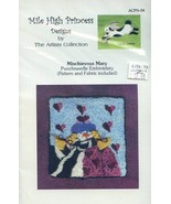 Mischievous Mary Mile High Princess Punchneedle Embroidery Pattern w/Fab... - $6.27