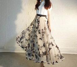 Black Champagne Tulle Skirt Evening Maxi Skirt Tulle Prom Skirt Plus Size image 8