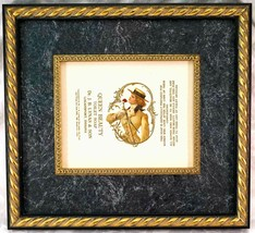 1910 QUEEN BEAUTY TOILET SOAP Victorian Bar Wrapper Label Professional F... - $24.99