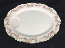 """Excellent Serving Platter 14"""" Haviland Limoges Varenne Floral Swags Gold Gilded - $49.99"""