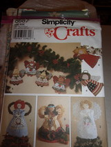 Simplicity 8687 Angels Decorations in 2 sizes Craft Sewing Pattern Tree ... - $3.99