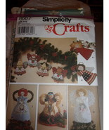 Simplicity 8687 Angels Decorations in 2 sizes Craft Sewing Pattern Tree Toppers  - $3.99
