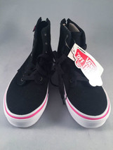 Vans - Black High Tops - White Sole with Pink Pinstripe - Size 13 NWT - $32.68