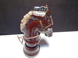 """Vintage Horse Porcelain Tall Cigarette Lighter ~~ 7 1/2"""" tall ~ chess pi... - $12.95"""