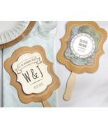Personalized Travel Destination Hand Fan Bridal Wedding Favor Map Scroll... - $68.88+