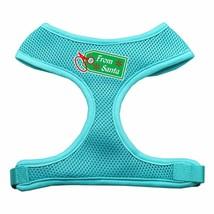 Mirage Pet Products From Santa Tag Screen Print Mesh Dog Harnesses Small Aqua
