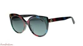 Gucci Women's Sunglasses GG0325SA 003 Multicolor Grey Lens Designer 57mm - $212.43