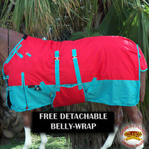 """66"""" Hilason 1200D Winter Waterproof Horse Blanket Belly Wrap Red U-L-66 - $84.99"""