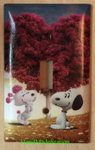 Peanuts Snoopy Loving Tree Light Switch Power Outlet Wall Cover Plate Home decor image 1