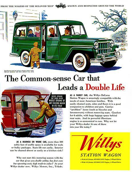 Primary image for 1954 Willys - Jeep Station Wagon - Promotional Advertising Poster