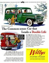 1954 Willys - Jeep Station Wagon - Promotional Advertising Poster - $9.99+