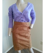 VTG Krizia Italy 100% Sheepskin Distressed High Waisted Wiggle Pencil Sk... - $123.49