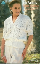 Patons Warm Weather Cardigans Pattern Book 685 Knit Sweaters Tops - $6.99